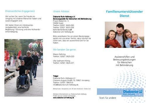 Familienunterstützender Dienst - Diakonie Ruhr-Hellweg