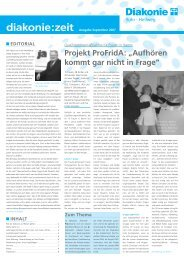 Projekt ProFridA - Diakonie Ruhr-Hellweg
