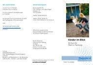 Flyer Kinder im Blick - Diakonie Ruhr-Hellweg