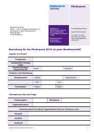 Antragsunterlagen - Diakonie Sachsen
