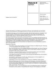 Bilanz zum P-Konto - Diakonie Sachsen
