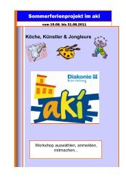 Ferienprogramm zum Download - Diakonie Ruhr-Hellweg e.V.