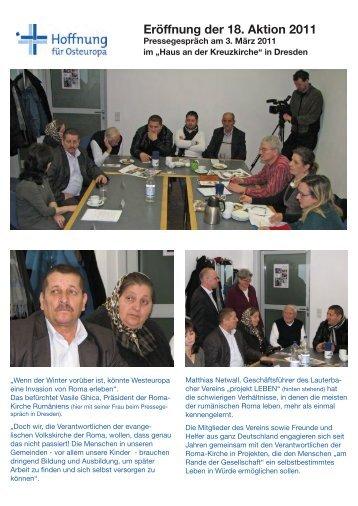 Das Pressegespräch zur Eröffnung - Diakonie Sachsen