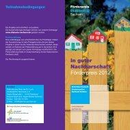 Weitere Informationen zum Förderpreis - Diakonie Sachsen