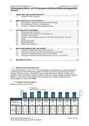 Statistik 2010 der Schwangerschafts - Diakonie Sachsen