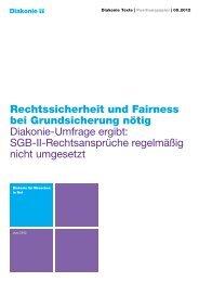Rechtssicherheit und Fairness bei Grundsicherung nötig Diakonie ...