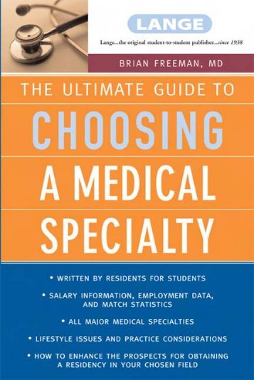 The Ultimate Guide to Choosing a Medical Specialty - English ...
