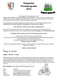 Diespecker Ferienprogramm 2012 A 4 - Gemeinde Diespeck