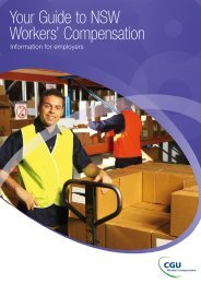Your Guide to NSW Workers' Compensation - CGU Insurance