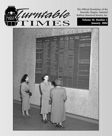 January 2004 - the Roanoke Chapter, National Railway Historical ...