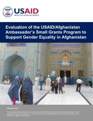 Evaluation of the USAID/Afghanistan Ambassador's ... - Constitute!
