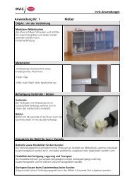 Anwendung Nr. 1 Möbel - Lamello