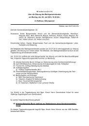 Niederschrift Gemeinderat am 30.07.12