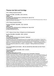 Themen der Zeit und Vorträge