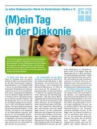 (M)ein Tag in der Diakonie - Diakonisches Werk im Kirchenkreis ...
