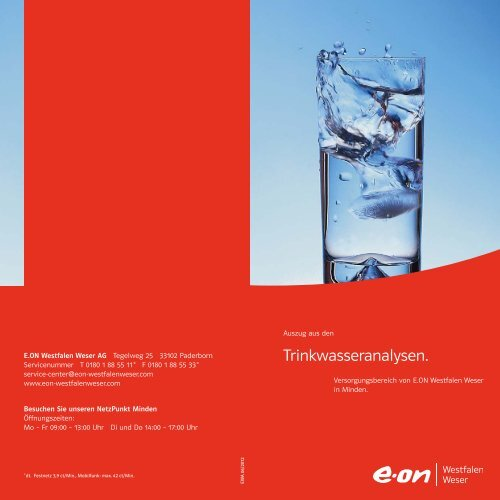 Trinkwasseranalyse 2012 (PDF, 184 KB) - E.ON Westfalen Weser