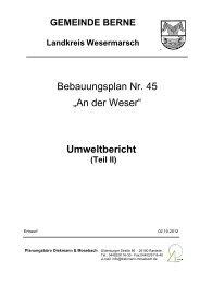 """Bebauungsplan Nr. 45 """"An der Weser"""" Umweltbericht - Ortsamt ..."""