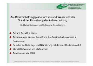 Aal-BWPEms Weser Stand Umsetzung Aal VO ... - Wanderfische.de