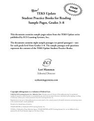 TEKS Update Student Practice Books for Reading Sample Pages ...