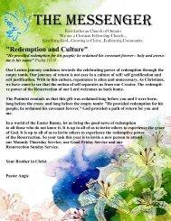 APRIL MESSENGER - First Lutheran Church of Ontario
