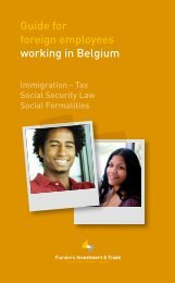 Guide for foreign employees working in Belgium - Flanders Foreign ...