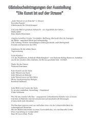 Gästebucheintragungen der Ausstellung n - Diakonisches Werk ...