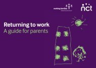 Returning to work A guide for parents - Working Families