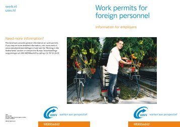 Work permits for foreign personnel - Werk.nl