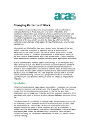 Changing Patterns of Work - Acas