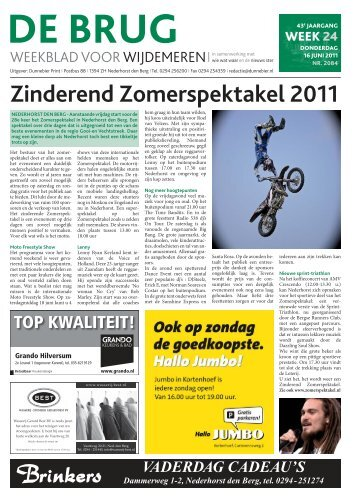 Zinderend Zomerspektakel 2011 - De Brug