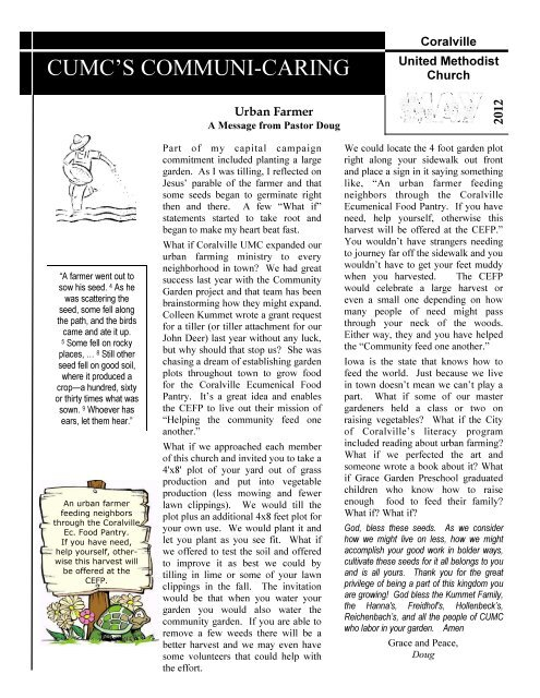 May_2012_Newsletter - Coralville United Methodist Church