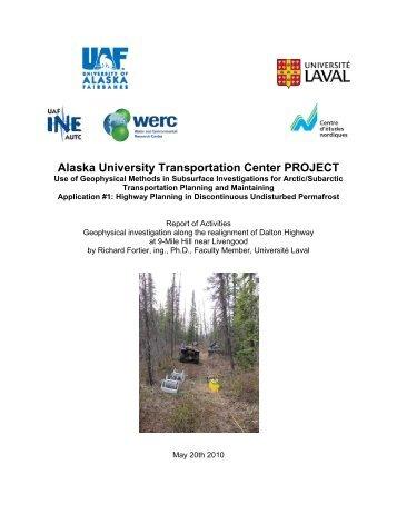 Alaska University Transportation Center PROJECT - Institute of ...