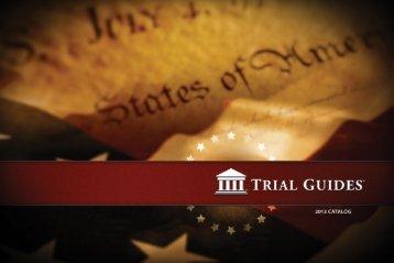 2013 Trial Guides Catalog