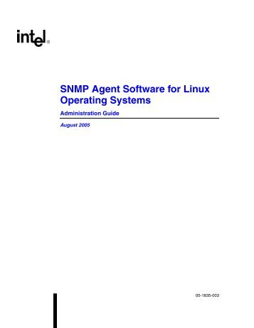 SNMP Agent Software for Linux Administration Guide - Dialogic