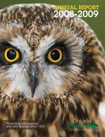 2008 – 2009 Annual Report - Ontario Nature