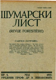 (revue forestière) садржа] (sommaire)