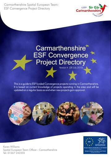 Carmarthenshire ESF Convergence Project Directory - West Wales ...