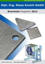 Stahlbau Katalog 2012.indd - Axnich GmbH - Brennteile Programm ...