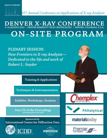 full program - Denver X-ray Conference