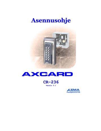 Asennusohje AXCARD CR-236 - SmartKey
