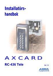 Installatörs- handbok AXCARD
