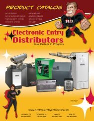 PRODUCT CATALOG - Electronic Entry Distributors