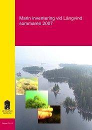 Marin inventering vid Långvind sommaren 2007 - Länsstyrelserna