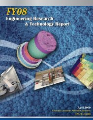 FY08 Engineering Research and Technology Report
