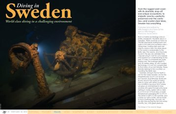 Diving in Sweden :: X-Ray Magazine :: Issue 36 - 2010