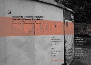 Mezinárodní letní škola umění 2010 International Summer School of ...