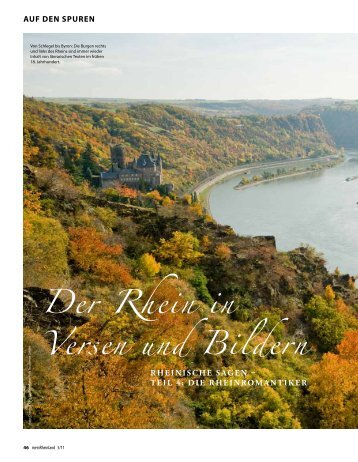 Der Rhein in Versen und Bildern - Das Goethezeitportal