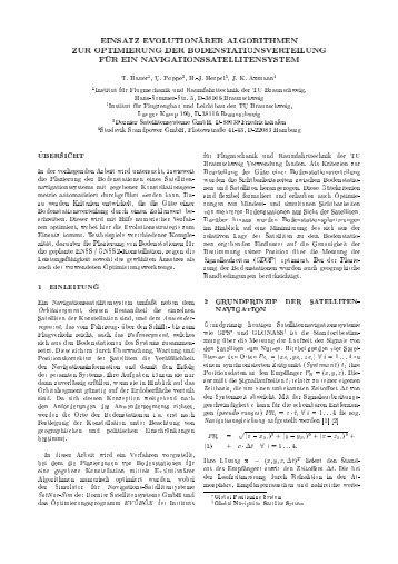 Einsatz Evolutionärer Algorithmen zur Optimierung der ...
