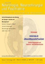 Ist die Schizophrenie eine Störung der Synapto- und/oder der ...