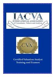 CVA Information 2008 - finexpert